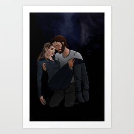 carrying her home Art Print