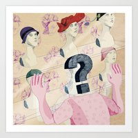 It's all in your head. Question series Art Print