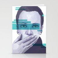 data Stationery Cards featuring Data Stream by Haily Gwynn Shaw