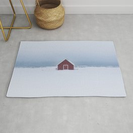 Snowfall - Landscape and Nature Photography Rug