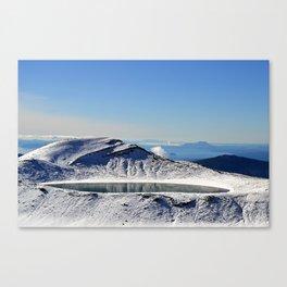 Tongariro top lake Canvas Print
