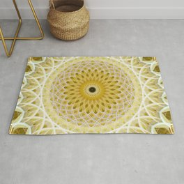 Honey and milk mandala Rug