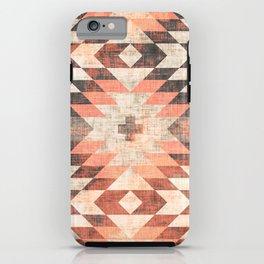 native coral diamond iPhone Case