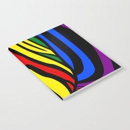 Colorful Zebra Portrait, Animal Photo, Large Printable Photography, Stripes Wall Art, Striped Zebra Notebook