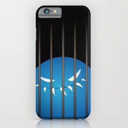 Blue Evil Monster Captured iPhone Case