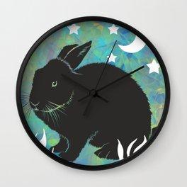 The Black Bunny Wall Clock