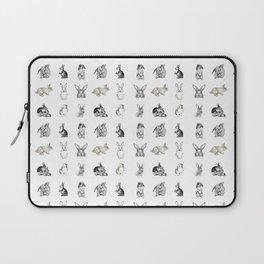 Vintage Bunny Rabbit Pattern Laptop Sleeve