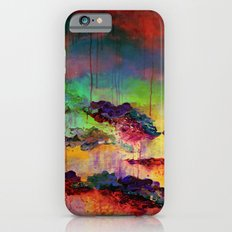 IT'S A ROSE COLORED LIFE 4 - Deep Red Colorful Floral Garden Abstract Crimson Green Painting Slim Case iPhone 6s