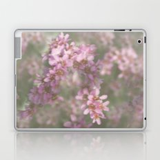 Abstract Pink and Green Flowers Laptop & iPad Skin