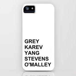 Grey's Anatomy iPhone Case