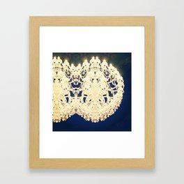 Double Chandelier Framed Art Print