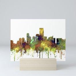 Jersey City Skyline - Safari Buff Mini Art Print