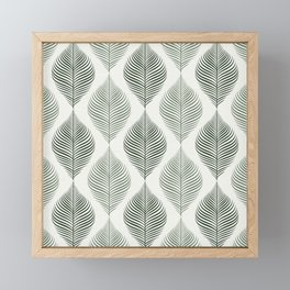 FILIGRAN LEAVES PATTERN IN NATURAL GREEN Framed Mini Art Print