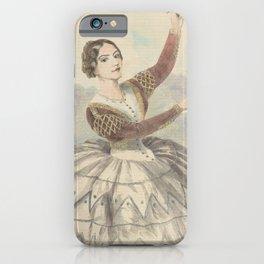 Montez Lola  Lola Montez as Mariquita in the ballet Un jour de carneval of SevilleAdditional Jour de carnaval a Seville iPhone Case