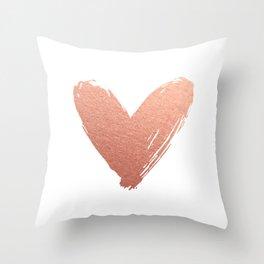 heart of rosegold Throw Pillow