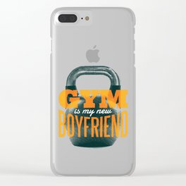 Gym Kettlebell Fitness graphic, Trending Workout Humor Design design Clear iPhone Case