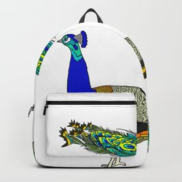 Peacock twin Backpack