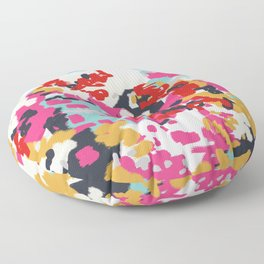 Inez - Modern Abstract painting in bold colors for trendy modern feminine gifts ideas  Floor Pillow