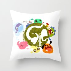 CARE - Love Our Earth Throw Pillow