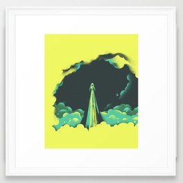 rad little rocket Framed Art Print
