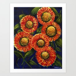 Feu D'Artifice Art Print