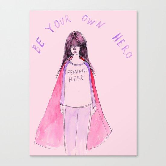 Feminist Hero Canvas Print