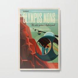 Vintage Adventure Travel Olympus Mons Metal Print