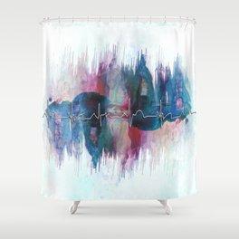Heartbeat Drama Shower Curtain