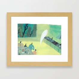 Ghost Does Dishes Framed Art Print