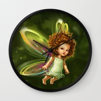 fairy Wall Clocks featuring Fairy by Ma. Luisa Gonzaga