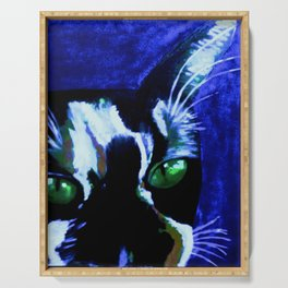 blu  cat Serving Tray