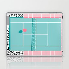 Baller - tennis sports retro pastel palm springs vacation athlete full court memphis style throwback Laptop & iPad Skin