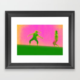 Walking In The Lihght Framed Art Print