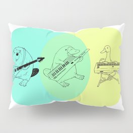 Keytar Platypus Venn Diagram Pillow Sham