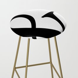 Typography, Ampersand, And Sign Bar Stool