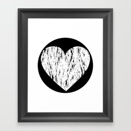 ghost paint heart Framed Art Print