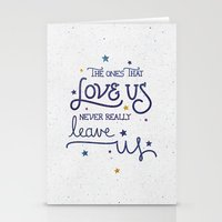 dumbledore Stationery Cards featuring Never leave us by Earthlightened
