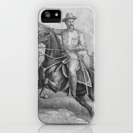 Colonel Theodore Roosevelt On Horseback iPhone Case