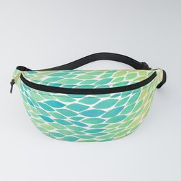 Ombre leaves - unicorn rainbow Fanny Pack