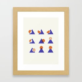 Circle Meets Triangle - Composition 13 Framed Art Print
