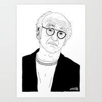 larry david Art Prints featuring Larry David by Nick Cocozza