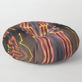 Abstract Light Trails 1017 Floor Pillow