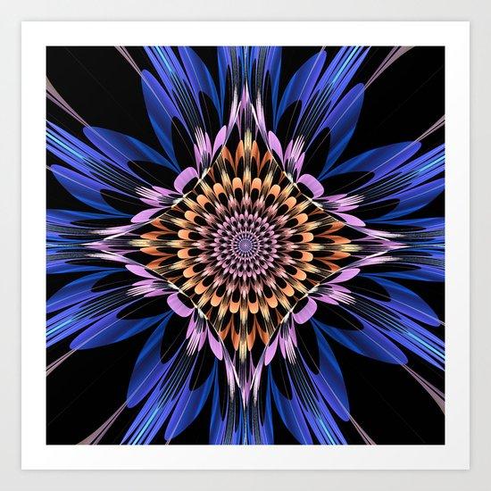Petals burst Art Print