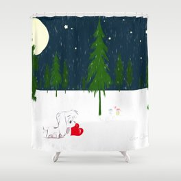 Love is in the Air-by Lisa Callear Shower Curtain