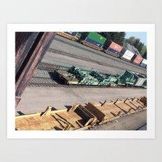 Laramie, WY Railroad Tracks Art Print