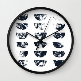 Josie Navy Blue Half Moon Abstract Wall Clock