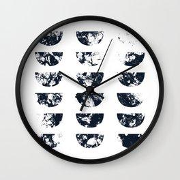 Josie Navy Blue Half Moon Abstract Wall Clock