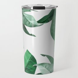 Tropical Palm Print Travel Mug
