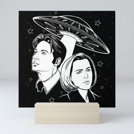 Mulder and Scully Mini Art Print