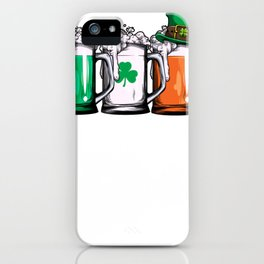 Irish Beer Shirt Ireland Flag St Patricks Day iPhone Case